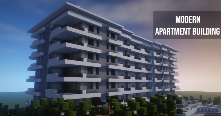 Modern Apartment Building #3 Minecraft Project