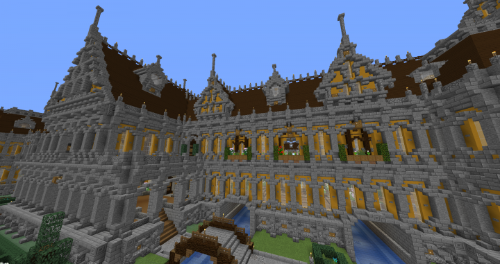 Grand Jaune Palace Spawn/hub (download) Minecraft Project
