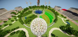 Futuristic urban permaculture farm Minecraft Map & Project