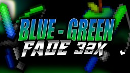 Blue - Green Fade 32x PVP Texture Pack Minecraft Texture Pack