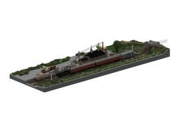1950s British Branchline | 3:1 Diorama Minecraft Map & Project