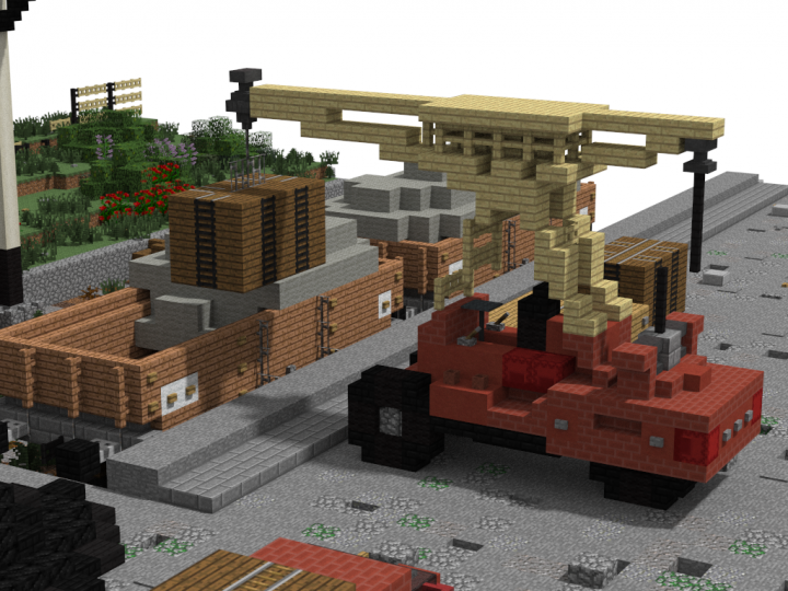 12 ton pipe VB wagon and Ransomes&Rapier 6ton mobile crane
