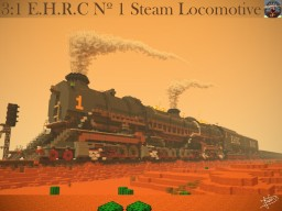 THE HUGE E.H.R.C. type 0 Steam Locomotive Minecraft