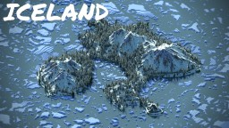IceLand terrain Minecraft Map & Project
