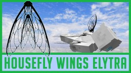 HOUSEFLY WINGS ELYTRA HD Realistic | Fly Wings Wearable in Survival Minecraft | Elytra Reality 0004 Minecraft Texture Pack
