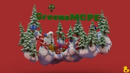 Greens MCPE Winter Hub Minecraft Map & Project