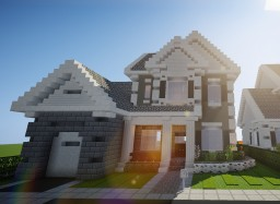 "Suburban house ""Lune"" Minecraft Map & Project"