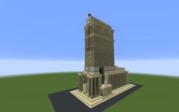 TASS Building (I.A. Golosov Project)   Здание ТАСС (Проект И.А. Голосова) Minecraft Map & Project