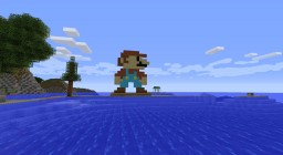 Mario Pixel Art Minecraft Map & Project