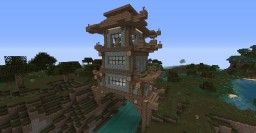 Japanese fantasy base @ PhrozenCookie survival Minecraft Map & Project