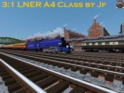 The LNER A4 Class, the FASTEST Steam engine model. Minecraft