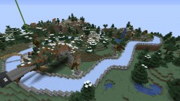 Boat ice Racing mountain roads Minecraft