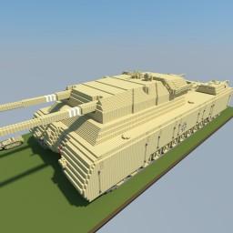 Landkreuzer P. 1000 Ratte 5:1 Minecraft Map & Project