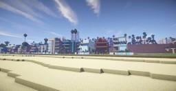Los Angeles City Tour (santa monica part 1) Minecraft Map & Project