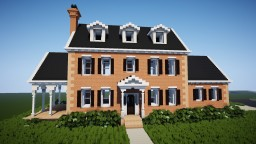 Traditional Colonial home Minecraft
