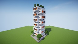 Modern Apartment Building with a modular design Minecraft Map & Project