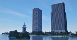 Resort and tower apartmentm Minecraft