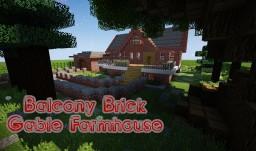 BALCONY BRICK GABLE FARMHOUSE +Yard Minecraft Map & Project