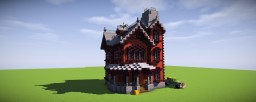 [BuildingGuide] Survivalsized Red-Clay and Netherbrick Victorian Mansion