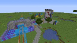 World with automatic train lines (WIP) Minecraft Map & Project
