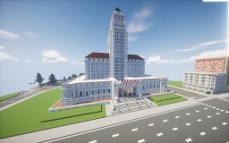 1:1 Scale Los Angeles City Hall Minecraft Map & Project