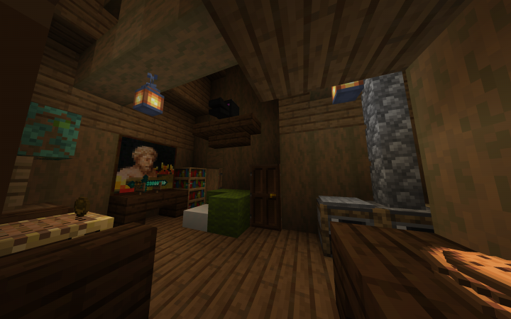 A nice interior of a third house, they even have cookies for guests!
