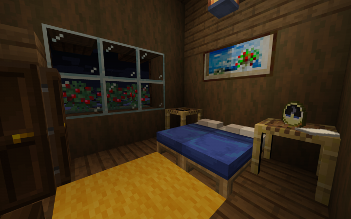 Another bedroom and this villager has extra fully pillows!