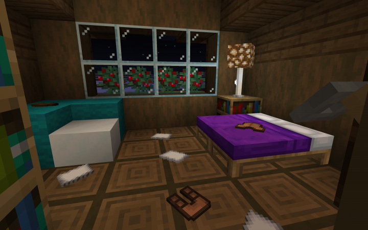 A bedroom of one of the messier villagers