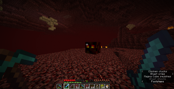 And so as magma cubes