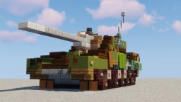 "Type-167 ""Skotina"" (Fictional Battle Tank) Minecraft Map & Project"