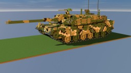[R.O.K] K-2 Black Panther   10:1 scale tank Minecraft Map & Project