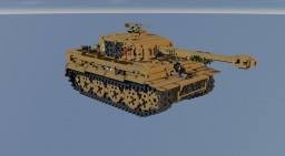 10:1 scale  Tiger-I  tank Minecraft