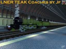 3:1 Set of LNER TEAK Passenger Cars Minecraft Map & Project