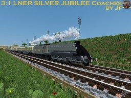 The Streamlined  LNER SILVER JUBILEE Coaches by Jf Minecraft Map & Project