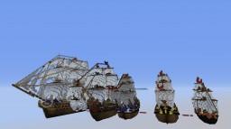 flotte navale Minecraft Map & Project