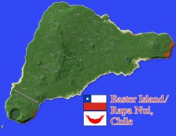 🗿 Easter Island, Chile (Rapa Nui) 1:10 scale 🇨🇱 Minecraft Map & Project