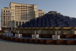 The city of Voroshilovgrad | City center Minecraft Map & Project
