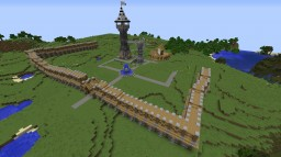 Mediaval Town Minecraft Map & Project