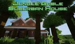 JUNGLE GABLE SUBURBAN HOUSE! Minecraft Map & Project