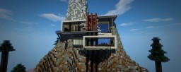 "Futuristic-modern Mansion ""on the Rocks"""