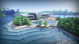 RedTech Modern Island House Minecraft Map & Project