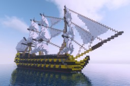 British 64 Gun 3rd Rate Ship Of The Line HMS Agamemnon Minecraft Map & Project