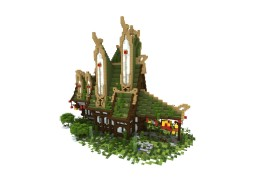Asian Fantasy Style Mansion Minecraft Map & Project