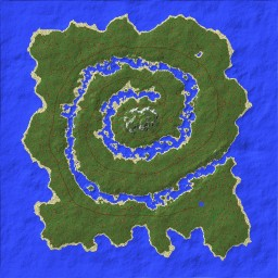 """River Spiral"" - 1000x1000 [worldpainter] Minecraft Map & Project"
