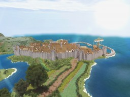 Medieval Walled Town - Kirkwood Town Minecraft Map & Project