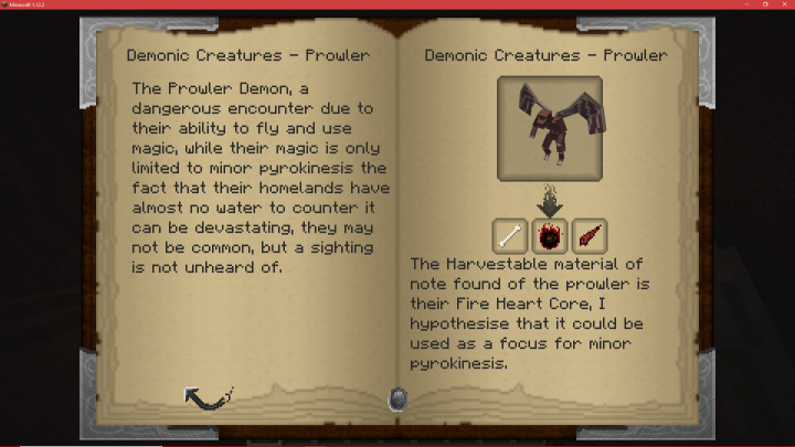 A node that contains information on the Prowler demon