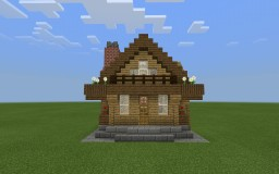 Small wooden house I built with my daughter Minecraft Map & Project