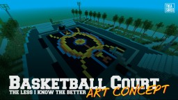 "Minecraft PS4 | Basketball Court (Art Concept ""The Less I Know The Better"" by Tame Impala) Minecraft Map & Project"
