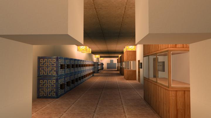 Robins Hall upstairs corridor
