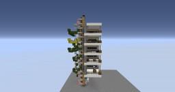 1x1 , 5 floor piston elevator Minecraft Map & Project